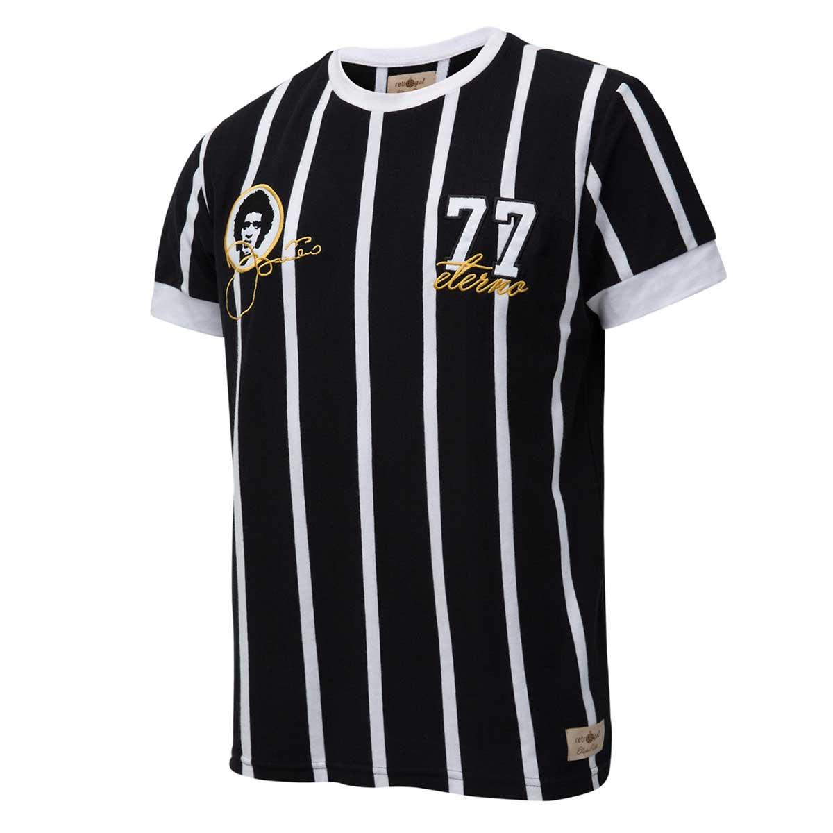 f3522bf91f4fd Camisa Retrô Gol Basílio Ex- Corinthians Listrada Preta Torcedor - Retrôgol