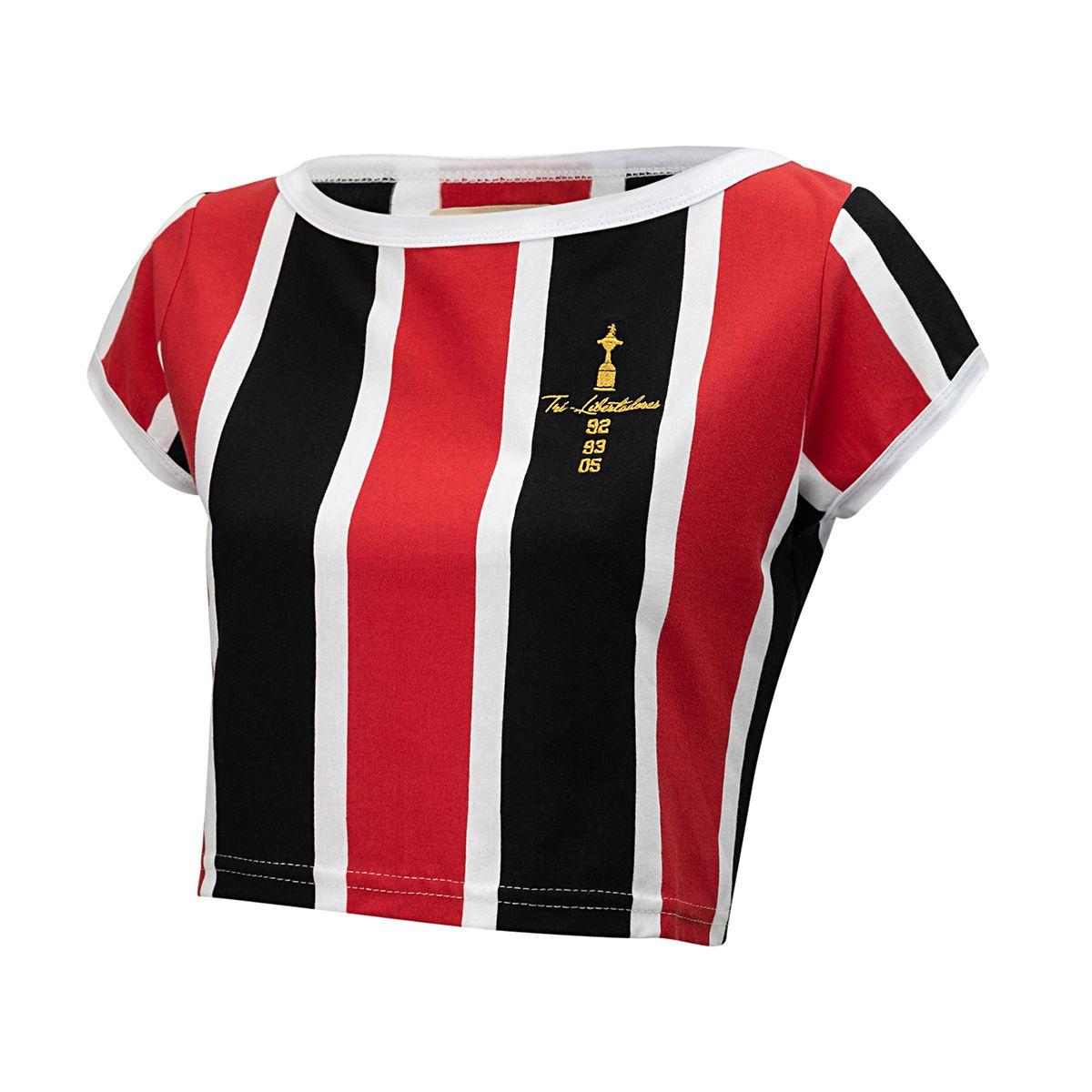 Camisa Retrô Gol Cropped São Paulo Libertadores Feminina