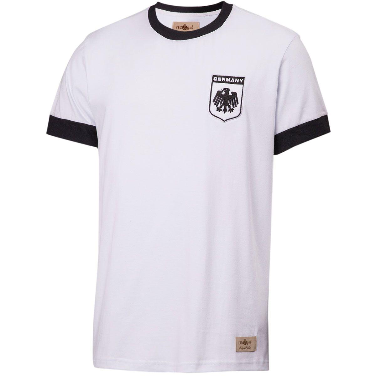 Camisa Retrô Gol Réplica Seleção Alemanha 1974 Torcedor