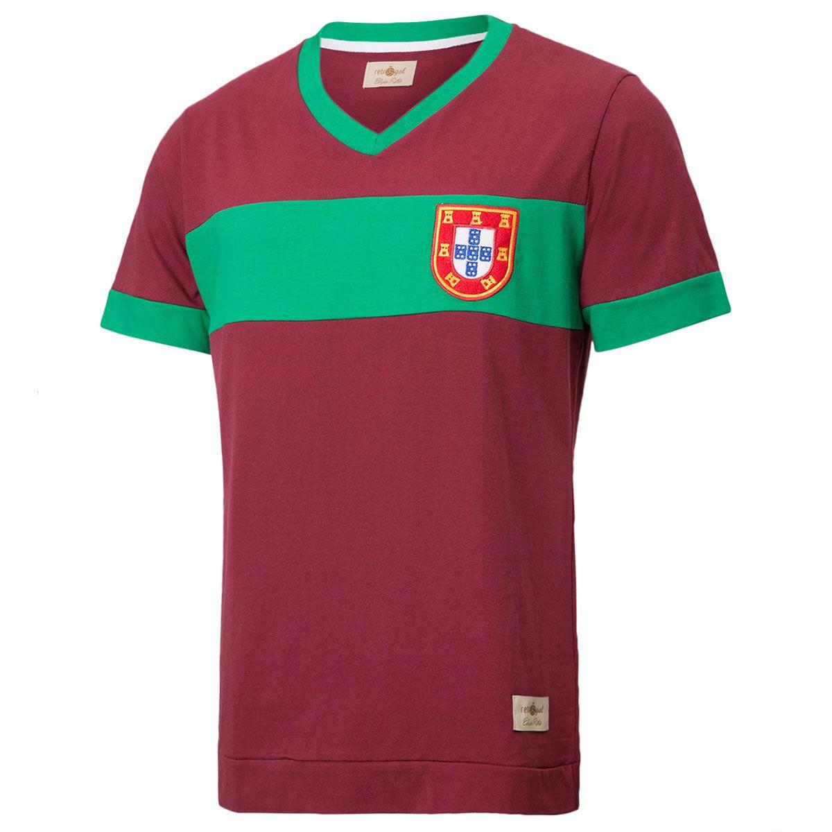 Camisa Retrô Gol Réplica Seleção Portugal Torcedor