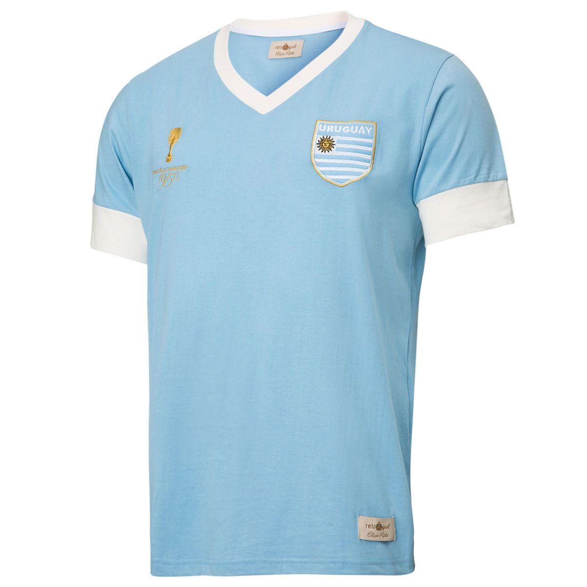 Camisa Retrô Gol Réplica Seleção Uruguai Torcedor 1950 Maracanã