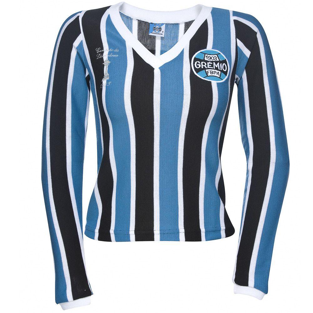 Camisa Retrô Grêmio Manga Longa 1983 Feminina