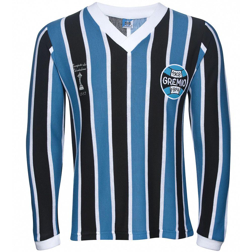 Camisa Retrô Grêmio Manga Longa 1983 Masculina - Retrôgol  54b3893dc761d