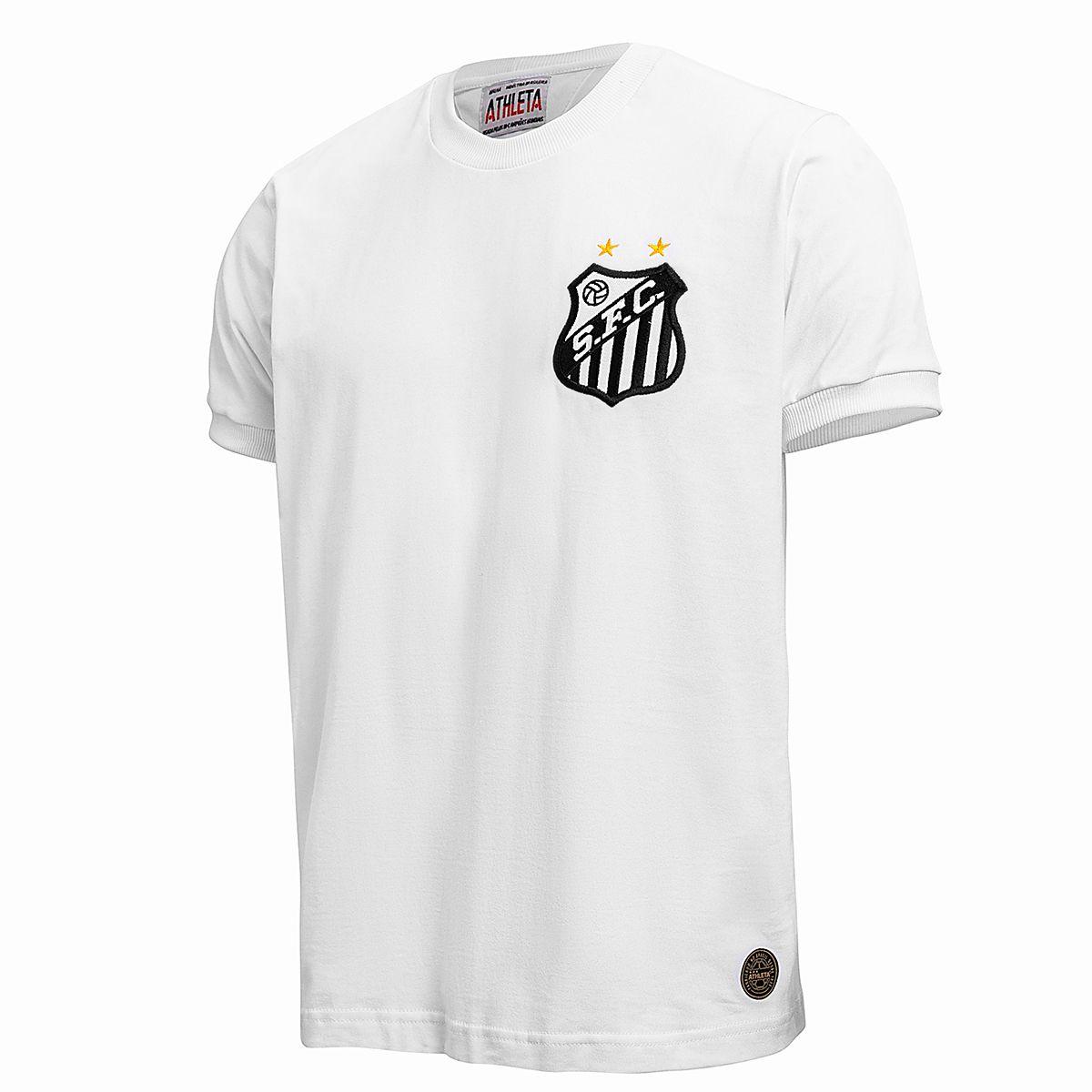 Camisa Santos Retrô 1969 Milésimo Gol Pelé Masculina