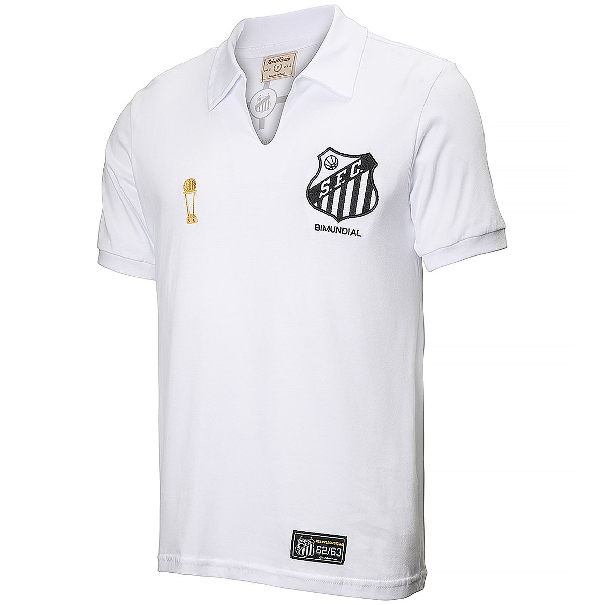 Camisa Santos Retrô Bicampeão 62/63