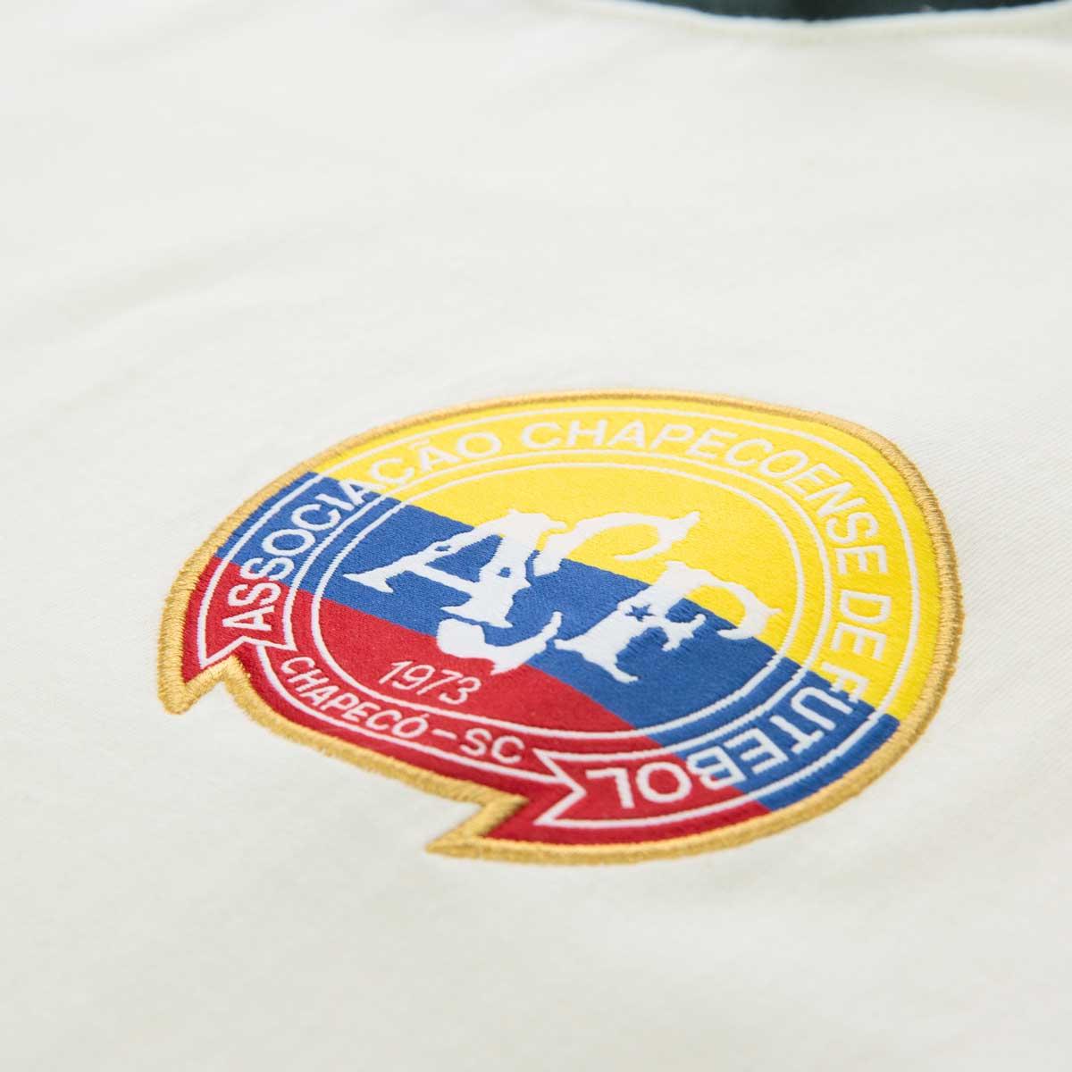 Camisa Solidária Retrô Gol Chapecoense Torcedor Offwhite