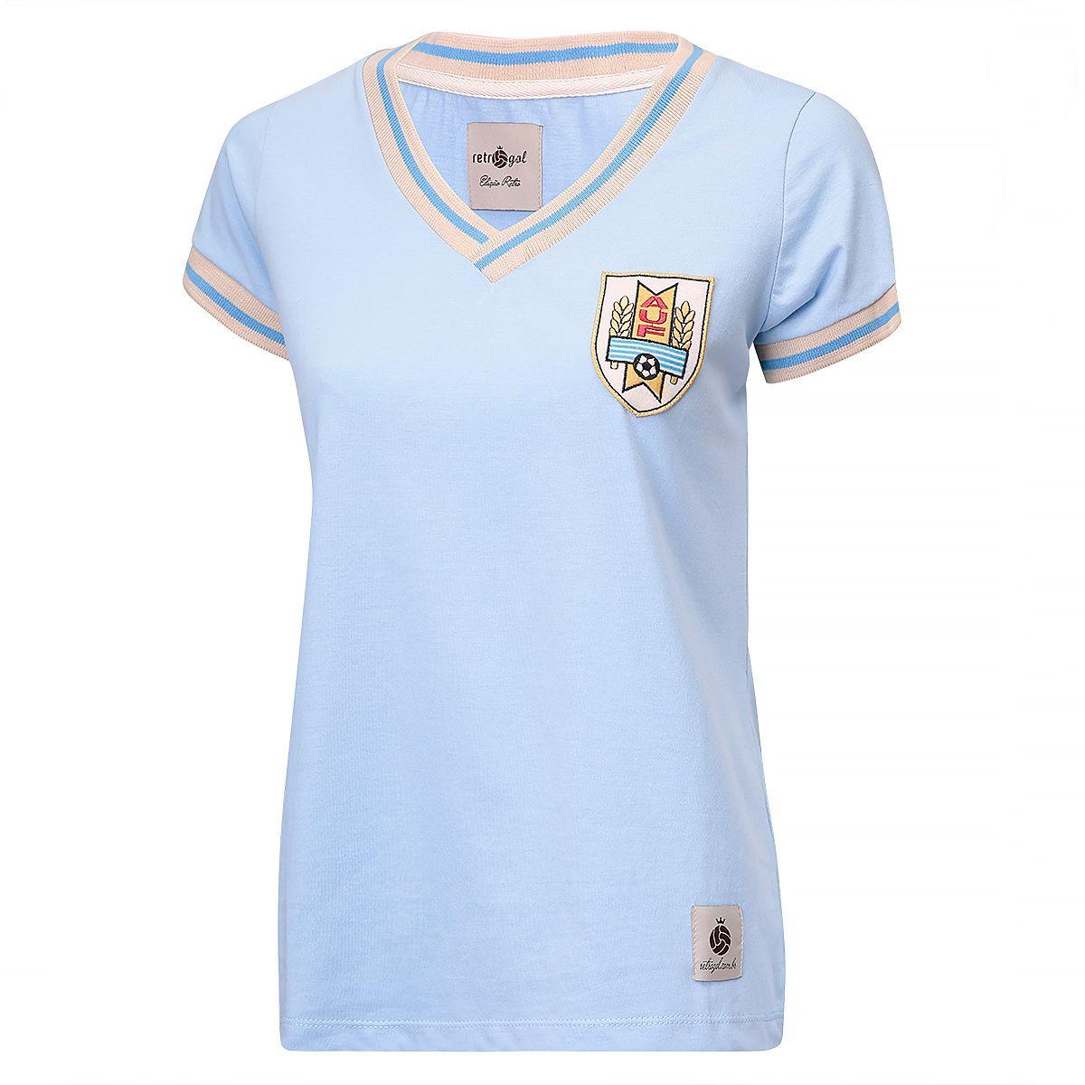 Camisa Uruguai Retrô Feminina