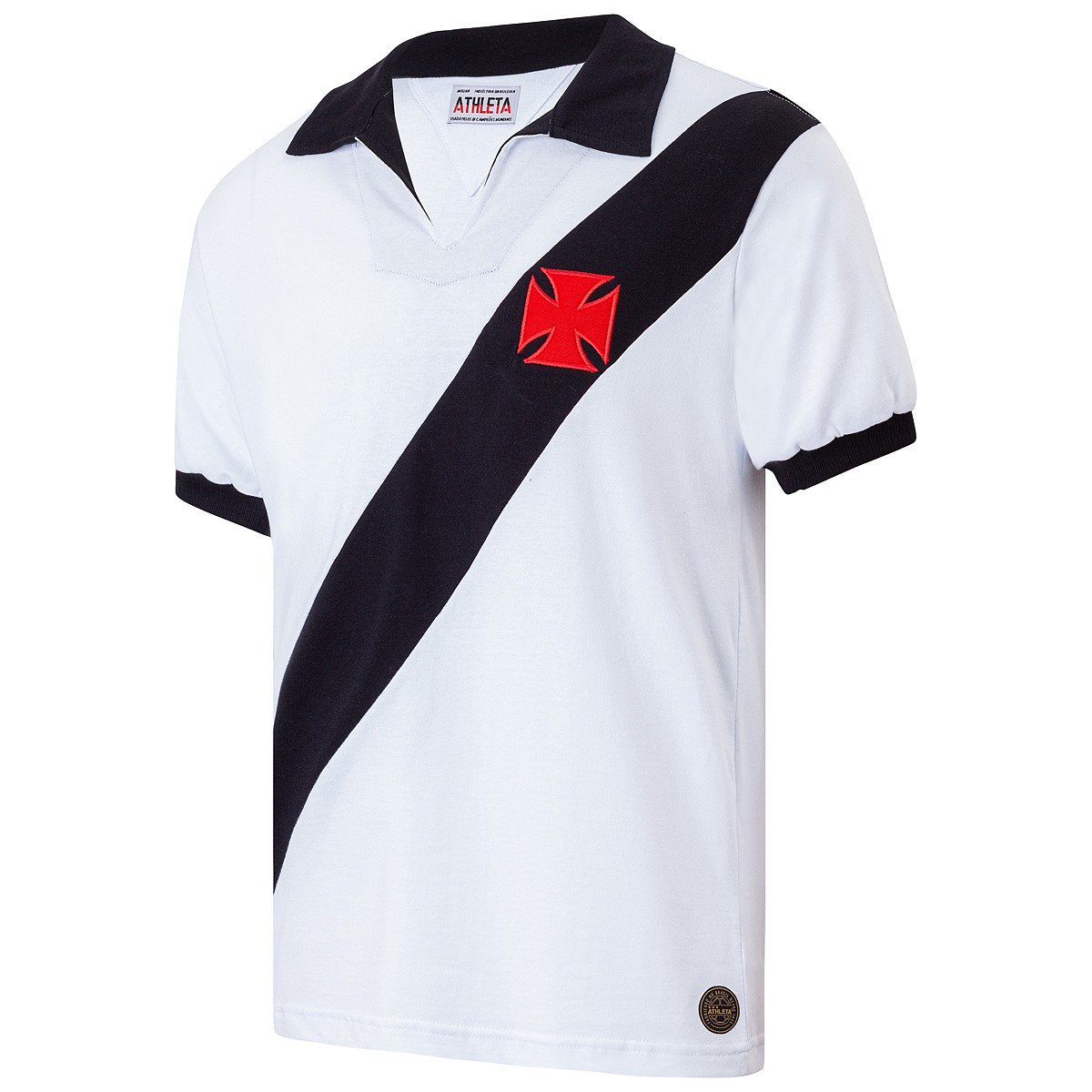 Camisa Vasco Retrô 1960 Branca Masculina