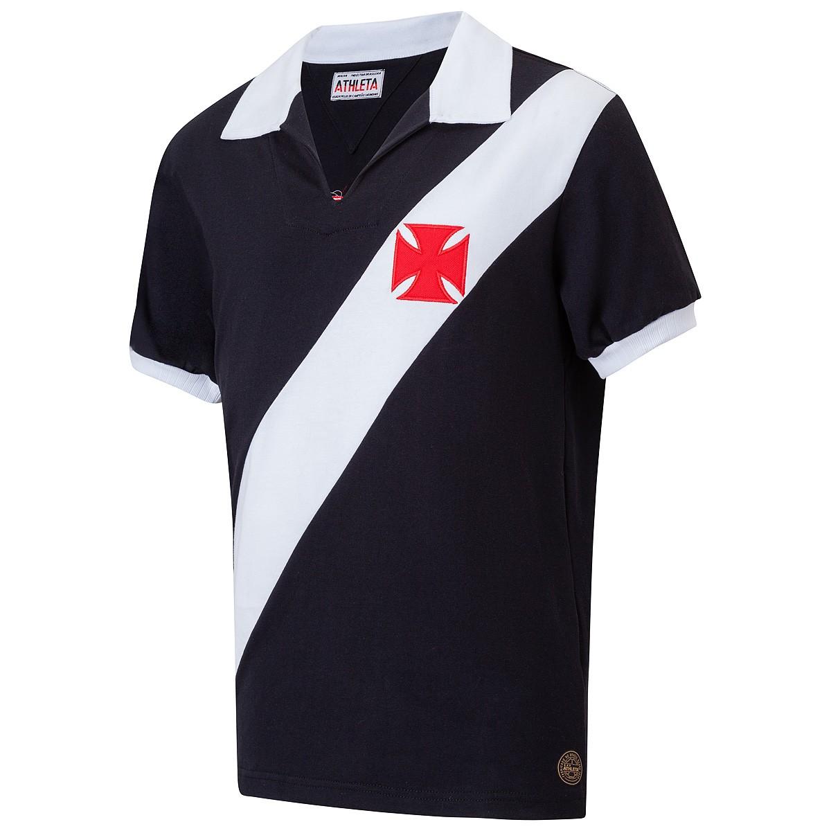 Camisa Vasco Retrô 1960 Preta Masculina