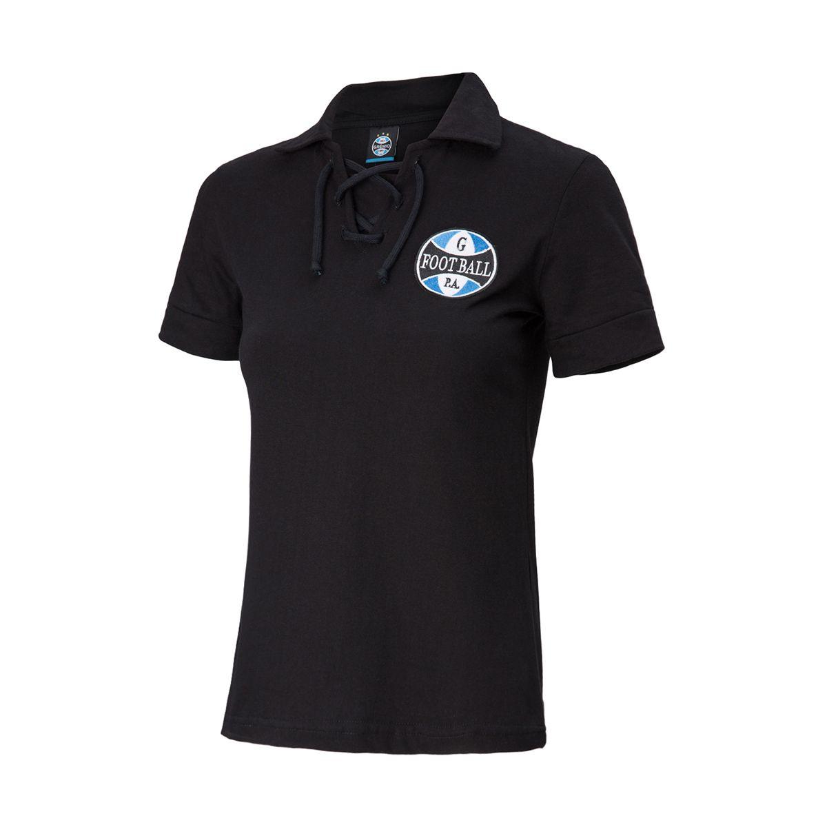Camiseta Grêmio Retrô Preta Corda Feminina
