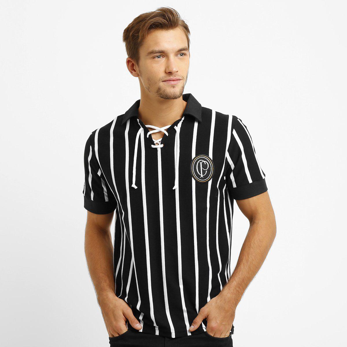 Camiseta Retrô Corinthians Réplica 1915 Masculina