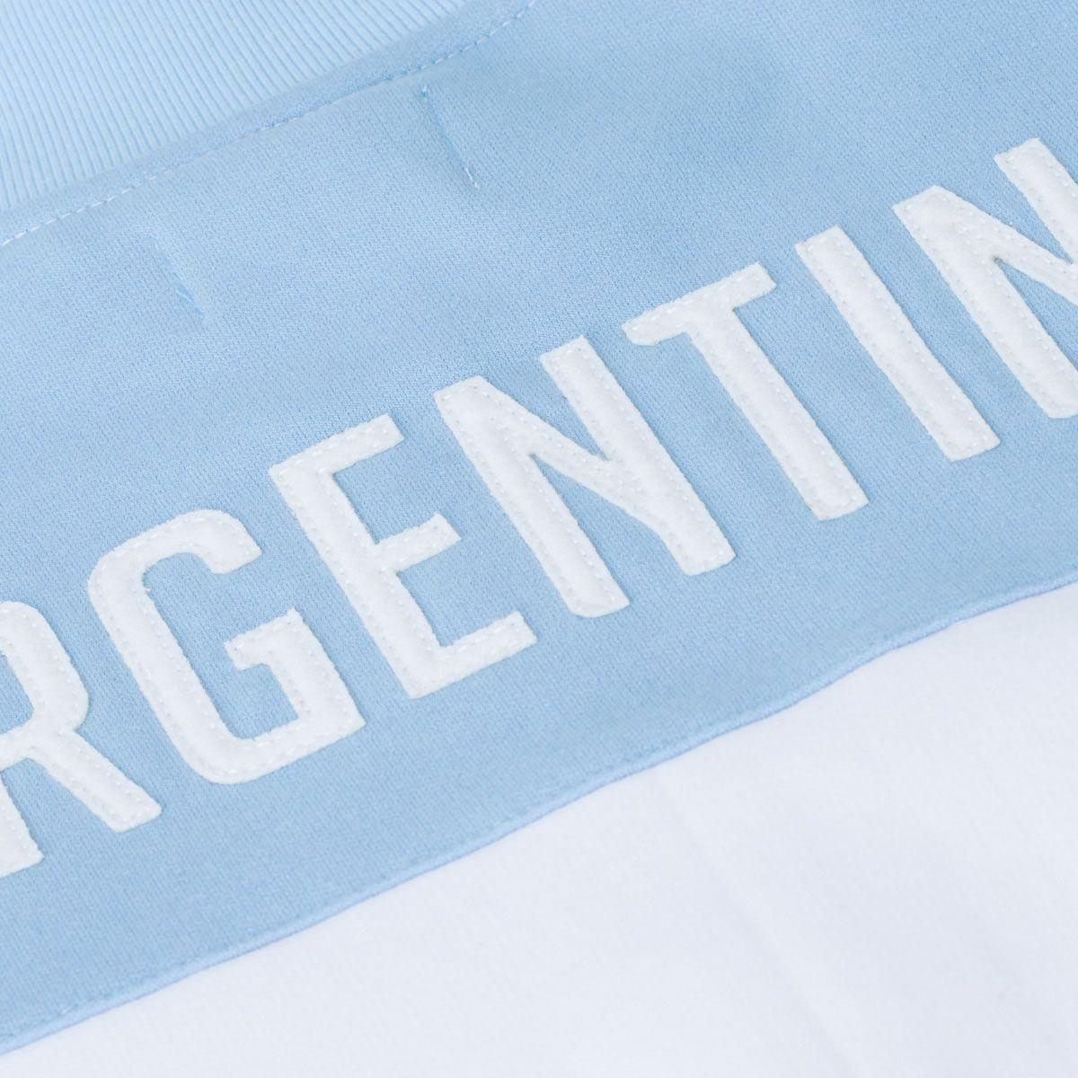 Jaqueta Moletom Retrô Gol Seleção Argentina Torcedor