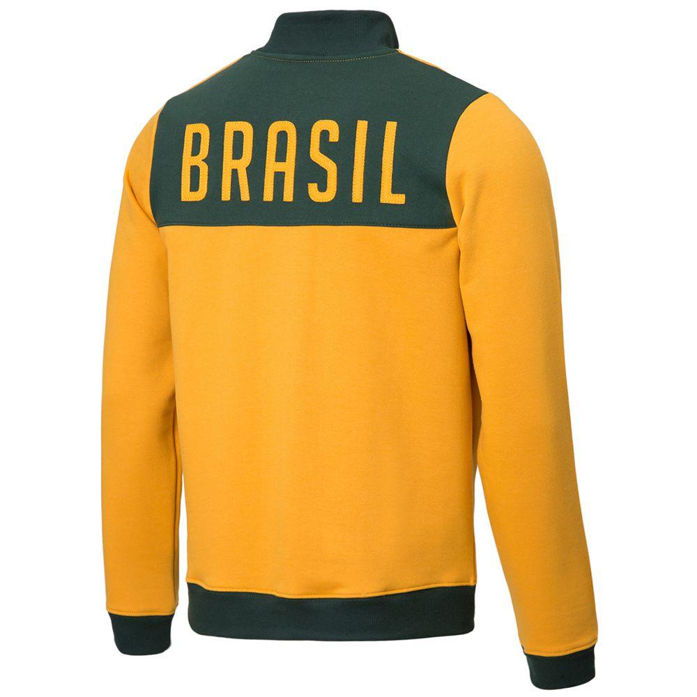 Jaqueta Moletom Retrô Gol Seleção Brasil 1970 Torcedor