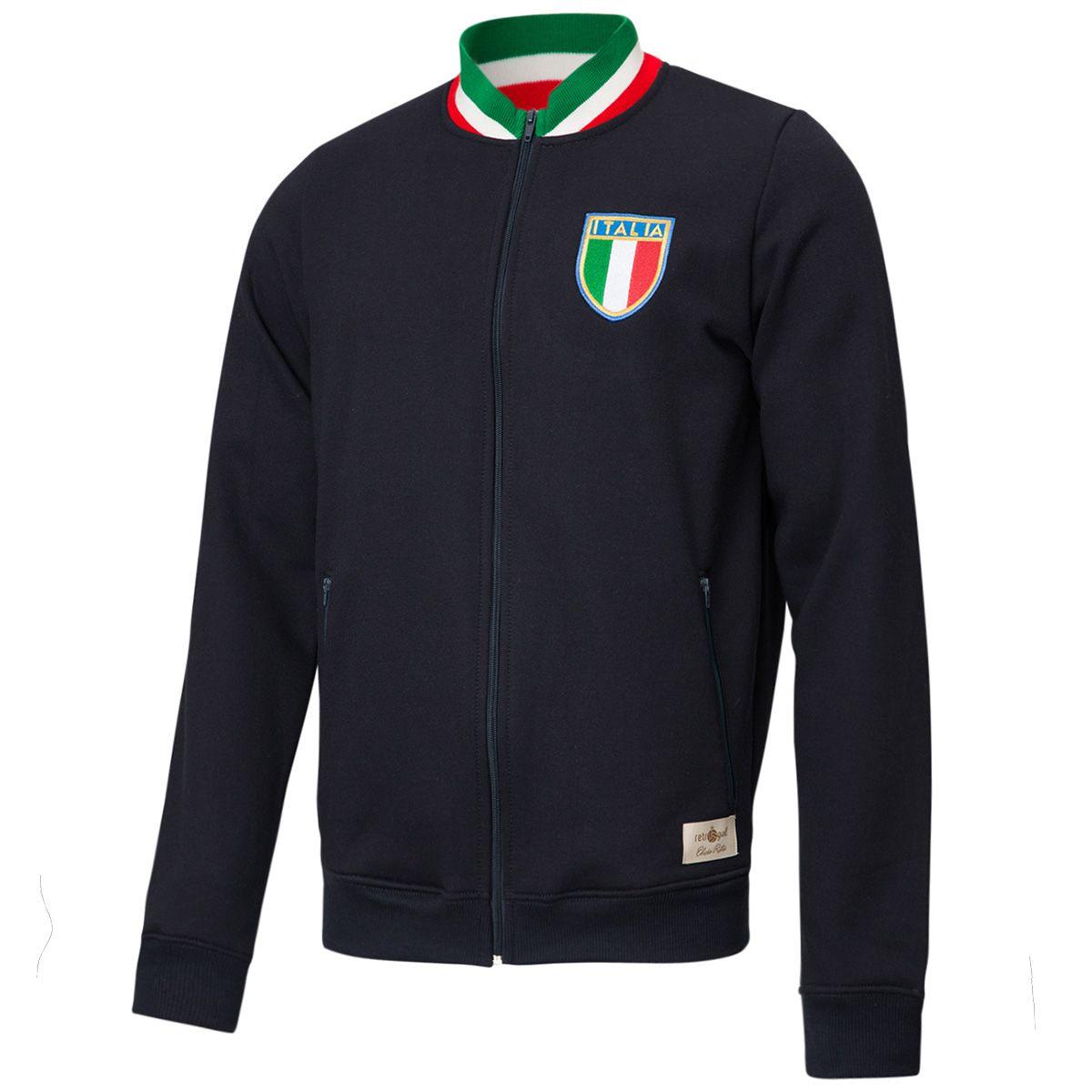 Jaqueta Moletom Retrô Gol Seleção Itália Torcedor