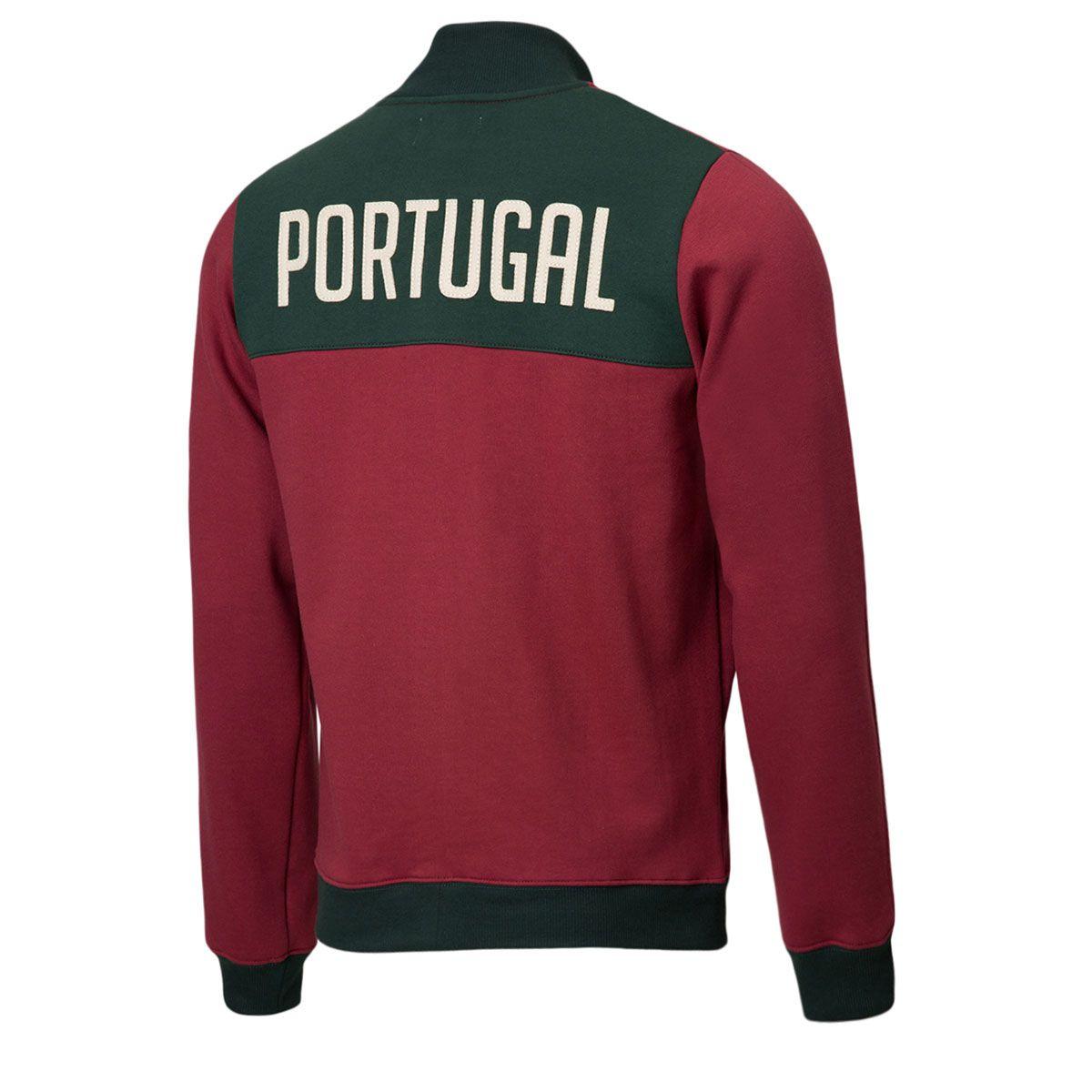 Jaqueta Moletom Retrô Gol Seleção Portugal Torcedor