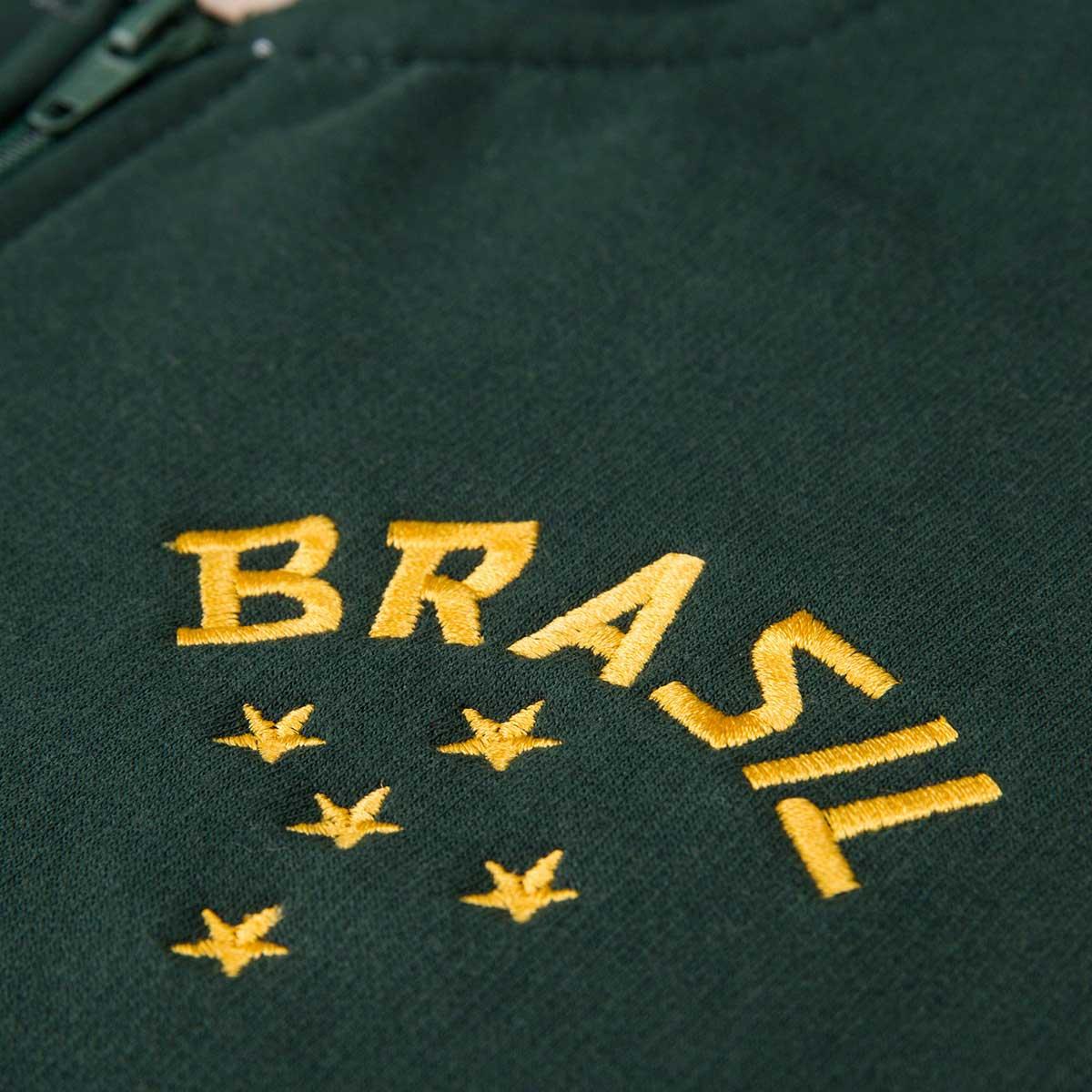 Moletom Feminino Retrô Gol Seleção Brasil Verde Torcedor