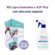 Kit Acaricida ADF Plus + Capa travesseiro com antiácaro