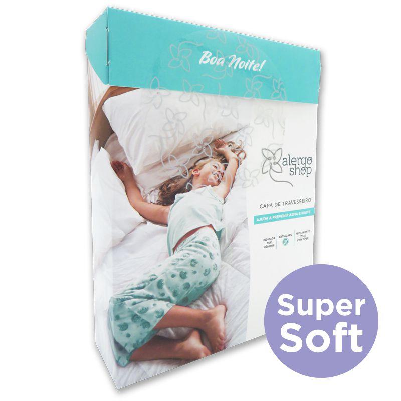 Capa de Travesseiro Super Soft 0,50 x 0,70 Adulto Alergoshop