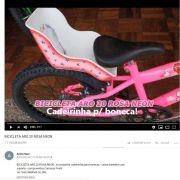 BICICLETA ARO 20 ROSA NEON - CADEIRINHA BONECA + CESTA