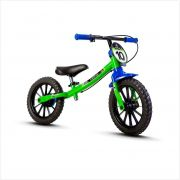Bicicleta Infantil sem pedal - BALANCE - Aco, Verde/ Preto / AzuL