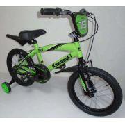 Bicicleta Infantil KAWASAKI aro 16 VERDE Freios VBRAKE