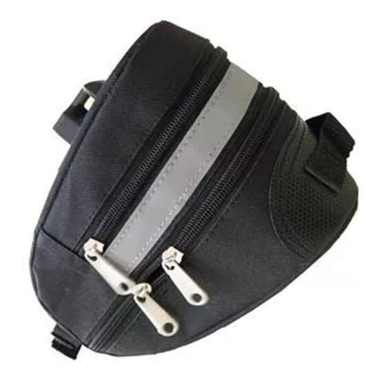 Bolsa para Selim Reforçada Grande - Porta objetos - com suporte fixação - Fita Refletiva