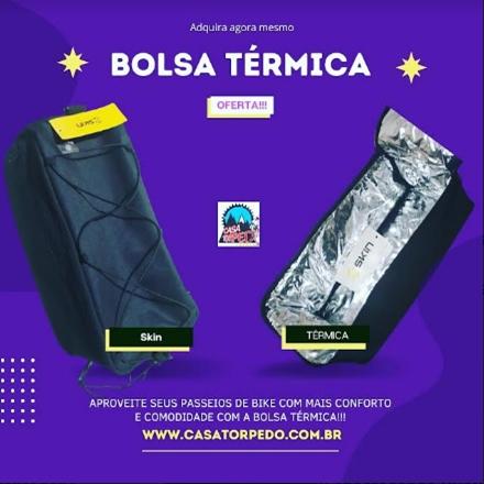 BOLSA TÉRMICA FIXA NO BAGAGEIRO DA BIKE