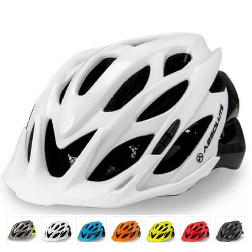 Capacete Ciclismo Viseira /sinalizador led/ Absolute Wild G