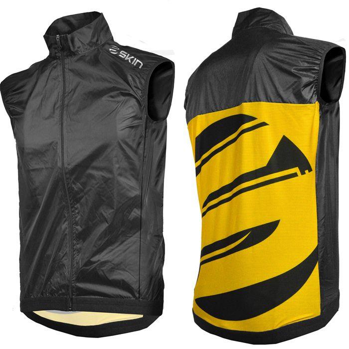 Colete Corta Vento  SKIN - Sport - preto/amarelo