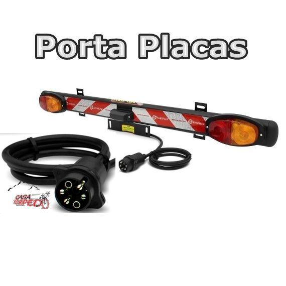 Porta Placas c/ Luzes