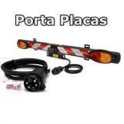 Régua Porta Placa c/ Luzes