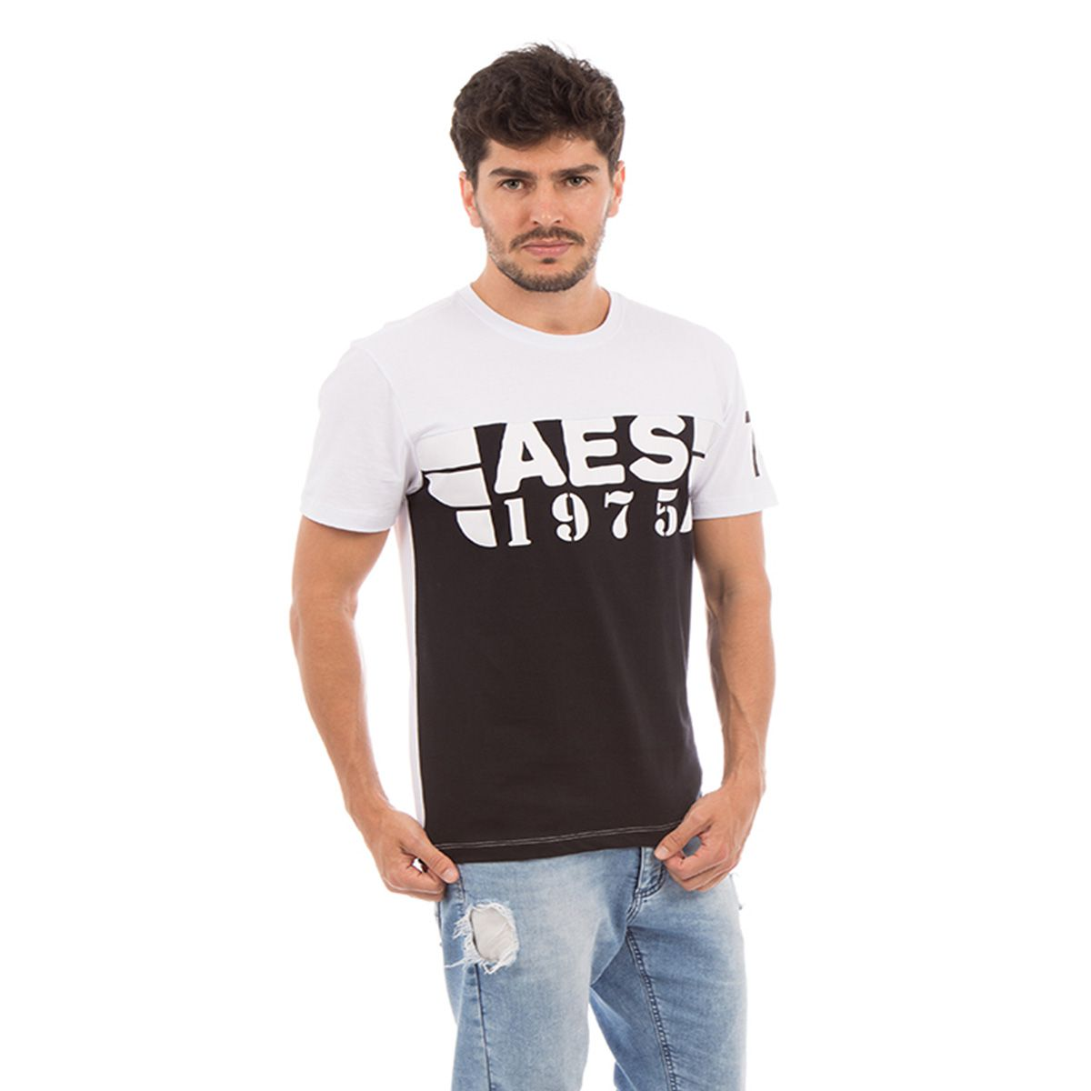 Camiseta AES 1975 Black & White