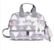 Bolsa Termica Vicky Nordica Cinza e Rosa - Masterbag Ref 12nor205