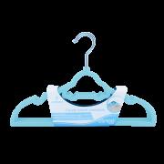 Cabide Infantil Aveludado Carrinho Azul Claro - Clingo Ref C0006