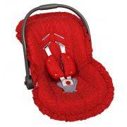 Capa Para Bebê Conforto Poa Vermelho - Batistela Ref 02005