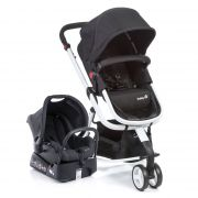 Carrinho Travel System Mobi Black e White Safety st  Dorel  Ref Cax