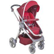 carrinho de bebê com bebê conforto e Base Moon vermelho - Kiddo