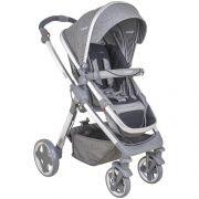 conjunto carrinho de bebê com bebê Conforto Moon cinza Caracol com base - Kiddo Amg