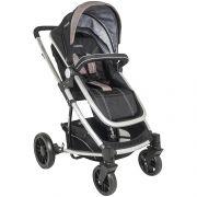 conjunto carrinho de bebê com bebê Conforto Winner preto e cappucinno - Kiddo 5108acp