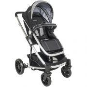 conjunto carrinho de bebê com bebê conforto Winner preto e cinza - Kiddo 5108apc