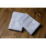 Kit 2 Boquinhas Suedine Renda Branco - ac Baby Ref 05478