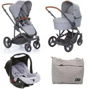 Carrinho Como 4 Moisés Bebê Conf Adap Woven Grey Abc Design