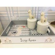 Kit Higiene Tema Lhama - Divino Talento Ref 9104