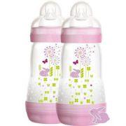 Mamadeira 2 un First Bottle Rosa Coelhinho 260ml - Mam Ref 4674
