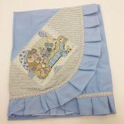 Manta Fofura Azul Urso - Catavento Ref