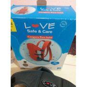 Mochila Canguru Preto - Love Safe e Care Ref 4000
