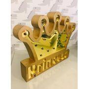 Quadro Luminária Coroa Princesa Dourado le Bon Don Refd
