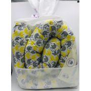 Rolo Minhocão 2 Metros Elefantinho Amarelo - Minha Casa Baby Ref Rolm/e