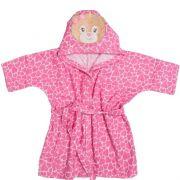 Roupão Com Capuz Bordado Urso Rosa - Bambi Incomfral Ref 02012900010012