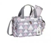 Sacola Anne Nordica Cinza e Rosa - Masterbag Ref 12nor210